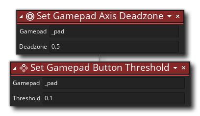 Axis and Button thresholds