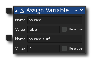 Pause Variables Actrion