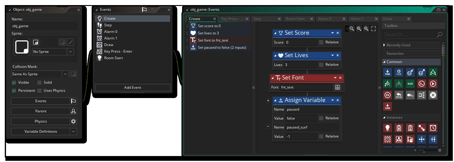 obj_Game Create Event